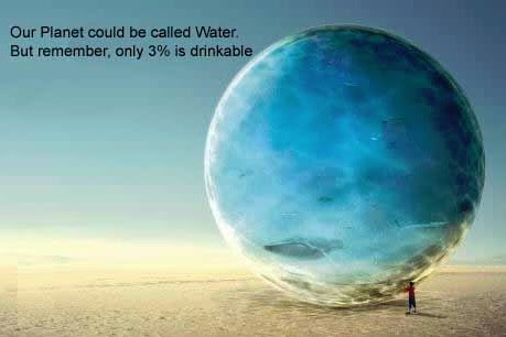 3Percent of Earth's water is drinkable