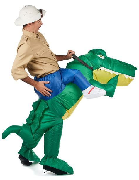 Inflatable Crocodile Carry Me Costume for Adults: Adults