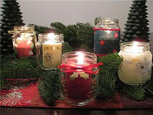 Holiday Baby Food Jar Candle Holder Tutorial - Candle Making
