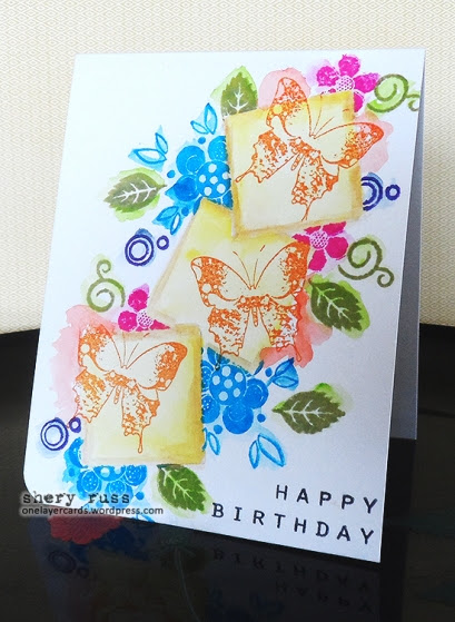 2014-03-25 OLC Spring butterflies birthday card