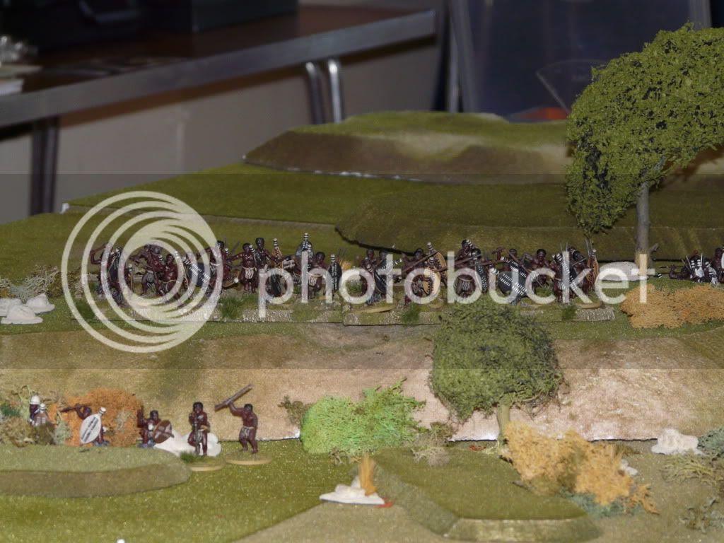 Zulu's appear on the ridge