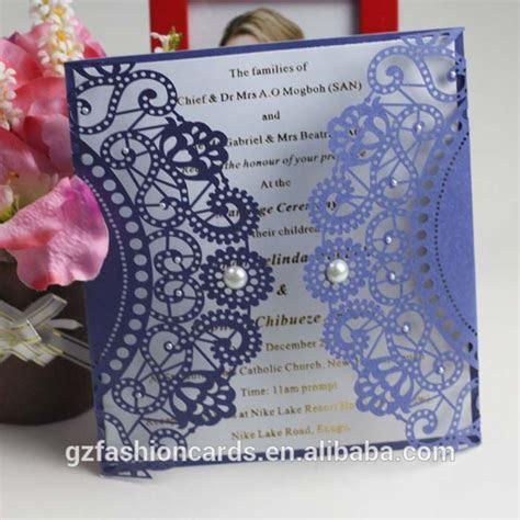 2014 Royal handmade wedding invitation card   laser cut
