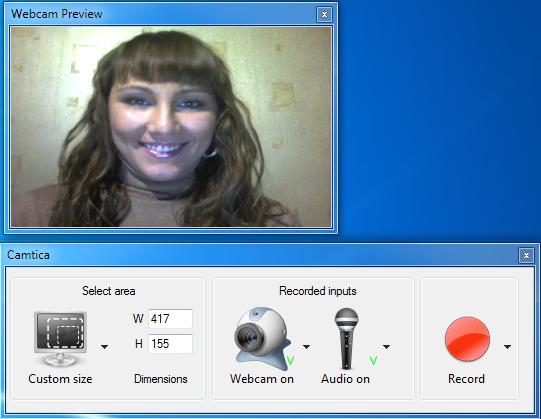 Camtica Webcam de grabación