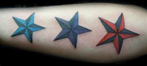 dark nautical star tattoos