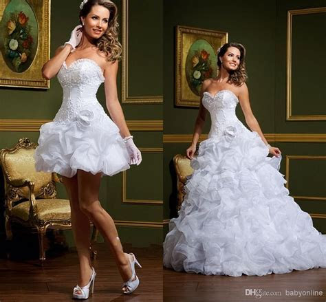 Cheap Sexy Vestido De Noiva White Ball Gown Wedding