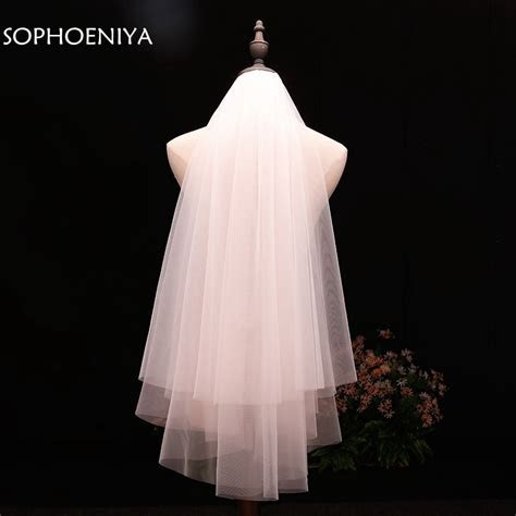 In stock voile Short Veil Cheap wedding accessories Welon