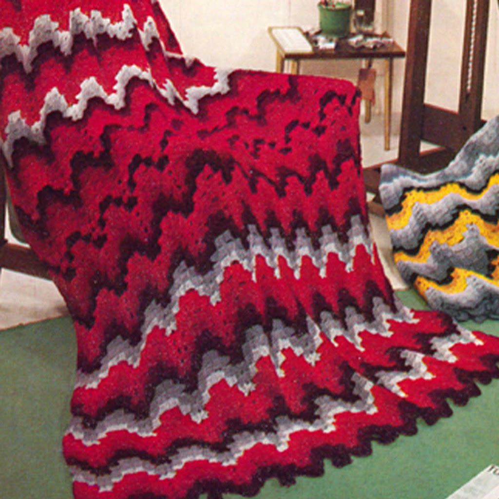 Crochet Rippled Wave Afghan pattern