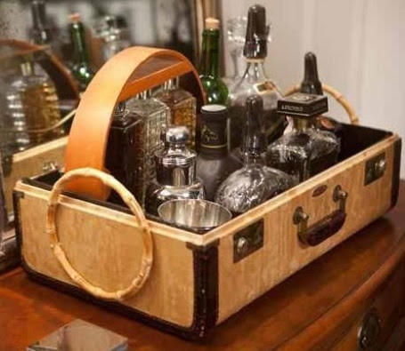 Bar Caddy....old suitcase