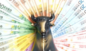 golden bull. stock, business and finance symbol