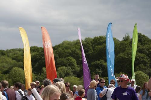 Olympic torch, Ironbridge, Shropshire