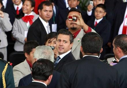 El titular del Ejecutivo, Enrique Peña Nieto, en Los Pinos. Foto: Benjamin Flores
