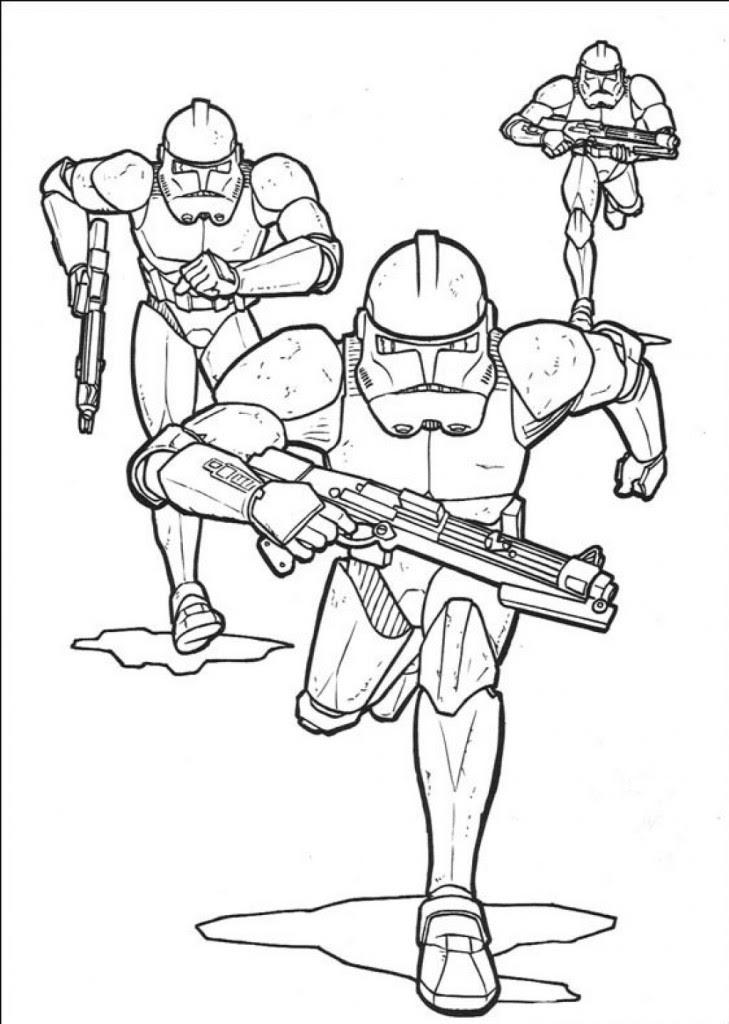 Gratis Kleurplaten Star Wars.Coloring Page Star Wars Clone Wars