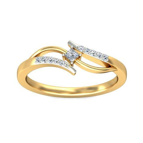 Diamond Engagement Rings For Women Real 0.06 Ct Gold