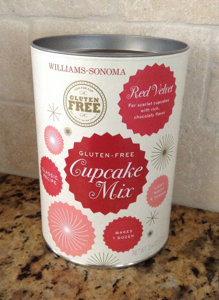 Williams-Sonoma Gluten Free Red Velvet Cupcake Mix -- best GF cupcake mix on the market.  They are amazing!!!