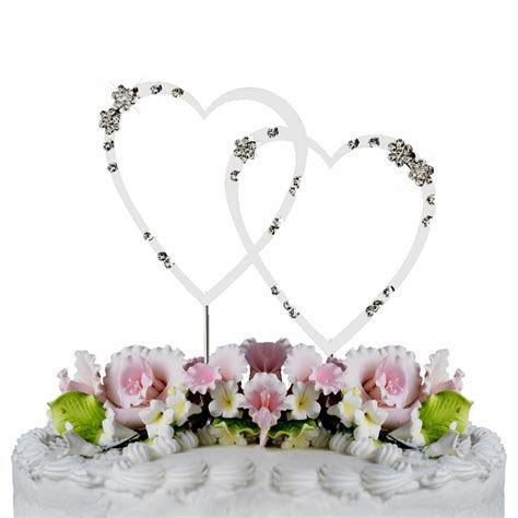 French Flower ~ Swarovski Crystal Wedding Cake Topper