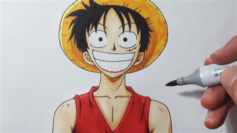 draw luffy step  step tutorial youtube