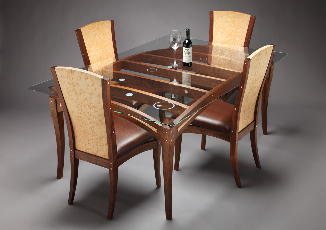 Wooden Dining Table Designs With Glass Top 13554  House Decoration Ideas