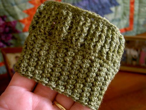 Minicluster lace sock in progress