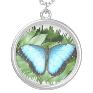 Blue Morpho Necklaces