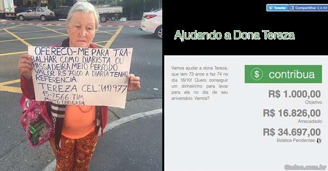 Diarista de 73 anos busca emprego e consegue mais de R$ 16 mil em doações