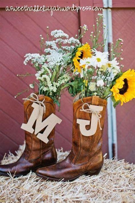 rustic country cowgirl boots fall wedding ideas deer