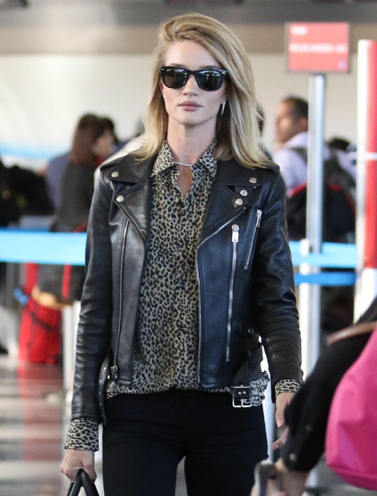 ROSIE HUNTINGTON-WHITELEY at JFK Airport in New York 05/03/2015