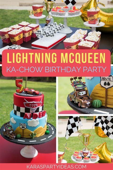 Kara's Party Ideas Lightning McQueen Ka Chow Birthday