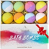 #10: Selene Bath Bombs Gift Set (Holiday 8 Pack) - Spa Fizzies For Kids, Women - Lush Present Idea for Her, Mom, Girlfriend, Birthday - Handmade, Vegan, and Non Staining