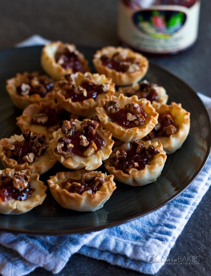 Baked Cherry Jalapeno Brie Bites | Barbara Bakes