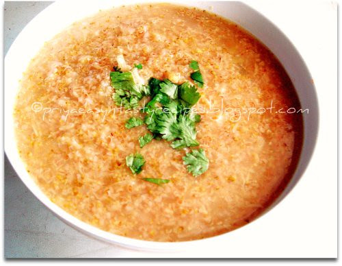 Cabbage & Cracked Wheat Soup