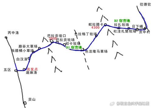 Map of Salween-Mekong crossing