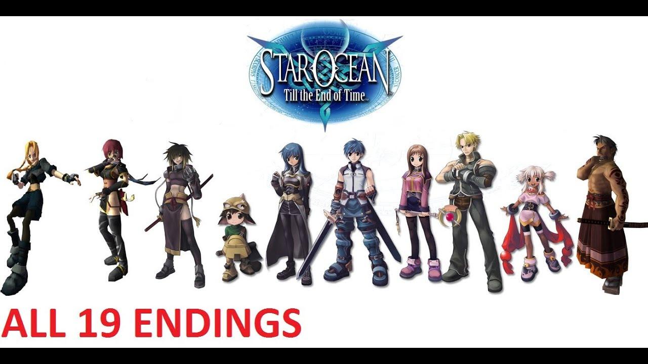 Star Ocean 3 Till the End of Time ALL 19 ENDINGS - YouTube