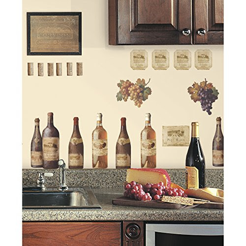 Wine Tasting Colorful Peel and Stick Wall Decals by RoomMates