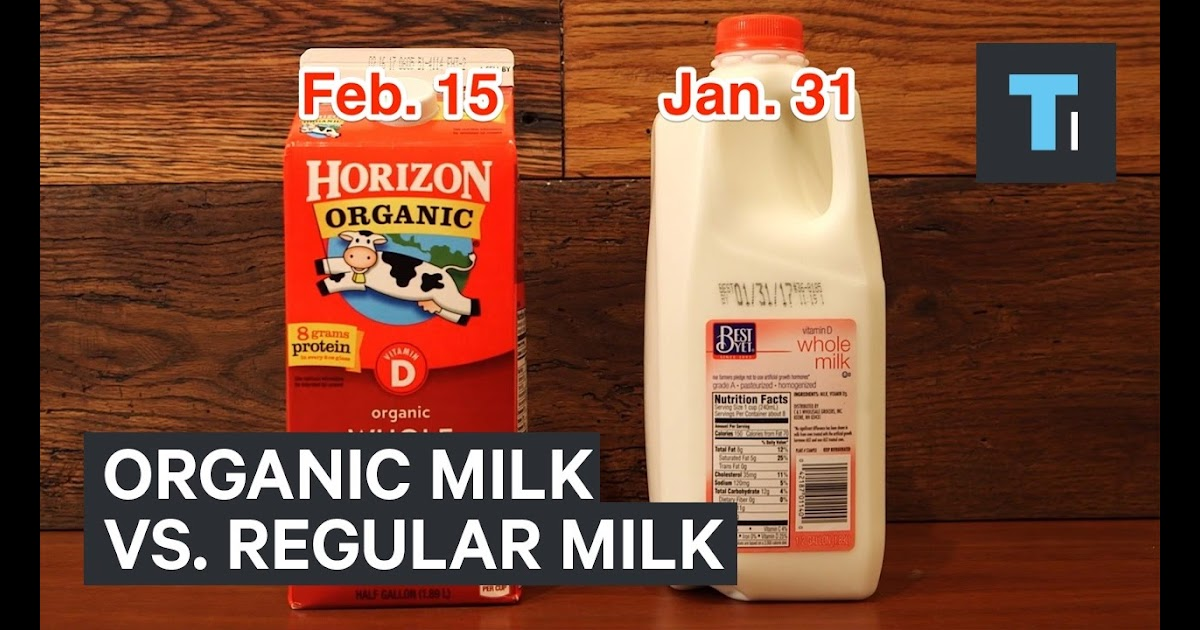 Horizon Whole Milk Nutrition Label