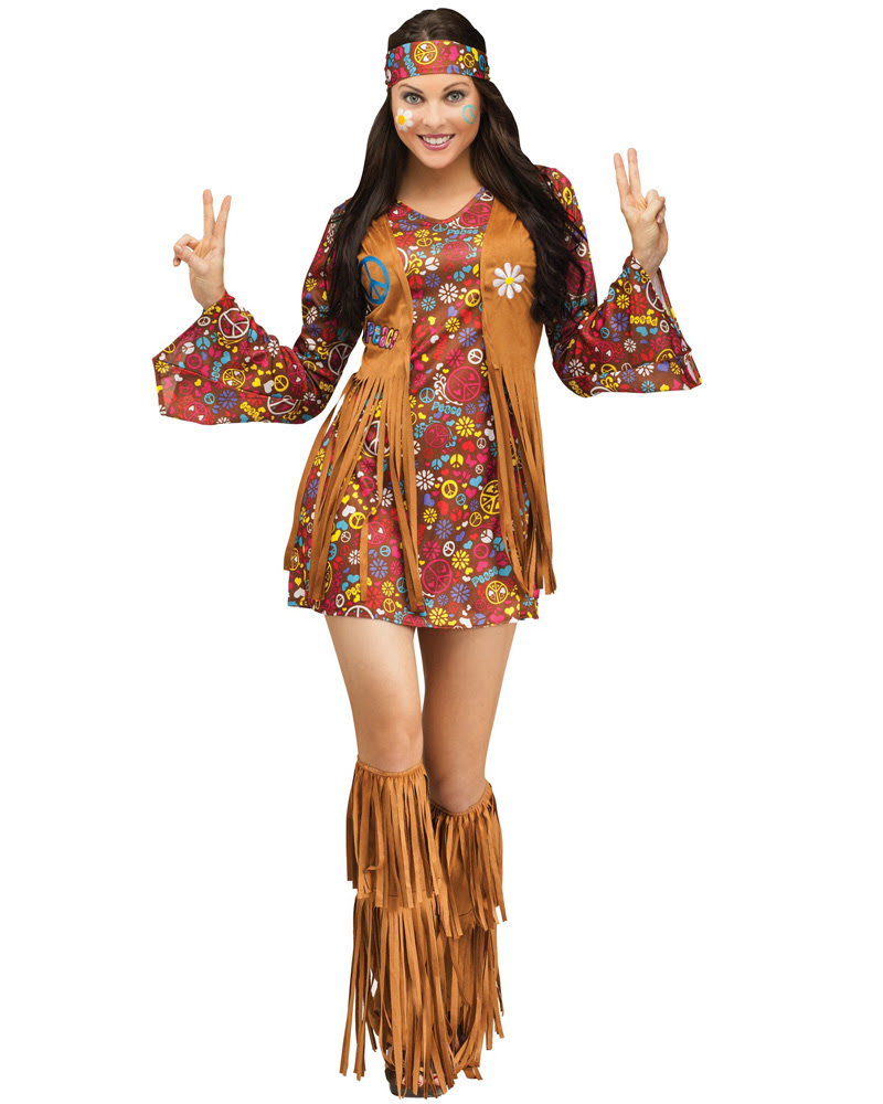 cl152 peace  love 60s 70s go go retro hippie dancing