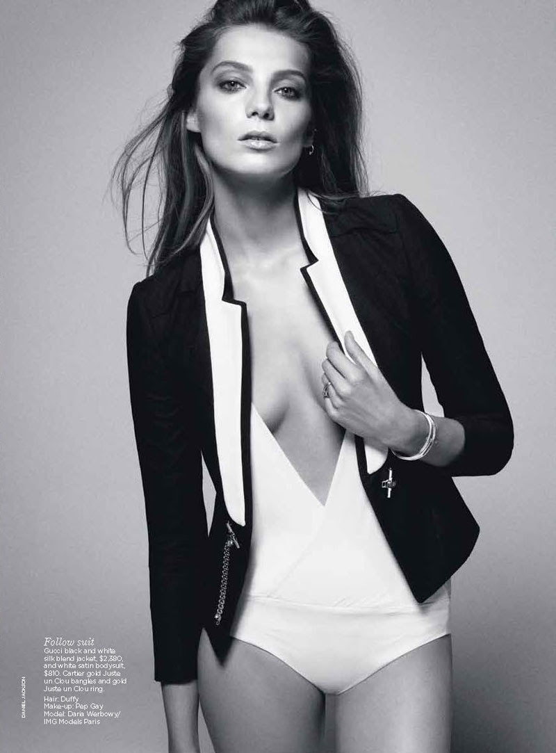 daria werbowy7 Daria Werbowy by Daniel Jackson for Vogue Australia June 2012