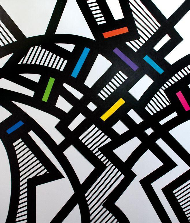 "Saatchi Art Artist: Jan Lamr; Acrylic 2011 Painting ""network lines 01"""