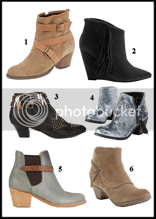 Jeffrey Campbell Benatar boots, Rag & Bone Durham boots, Princess vera Wang glitter boots, Betsey Johnson Ziah boots, Aldo Bubb boots, Style & Co. Jada boots