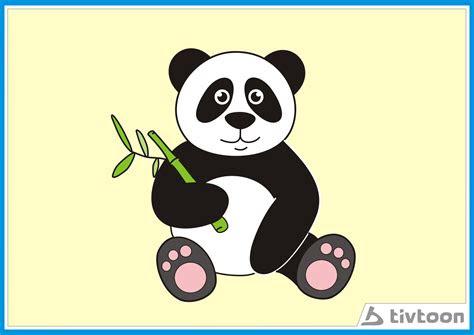 mewarnai gambar panda lucu tivtoon