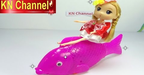 Đồ chơi trẻ em Bé Na nhật ký chibi búp bê tập Cá chép hồng Pink Carp can play music Childrens toys