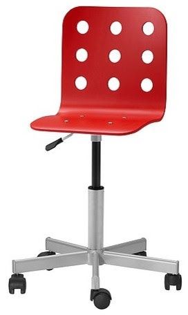 Jules Junior Desk Chair, Red - modern - kids chairs - by IKEA