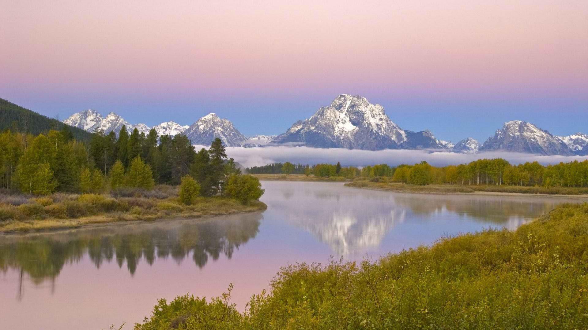 Hd Wyoming Grand Teton National Park Rivers Mount Download