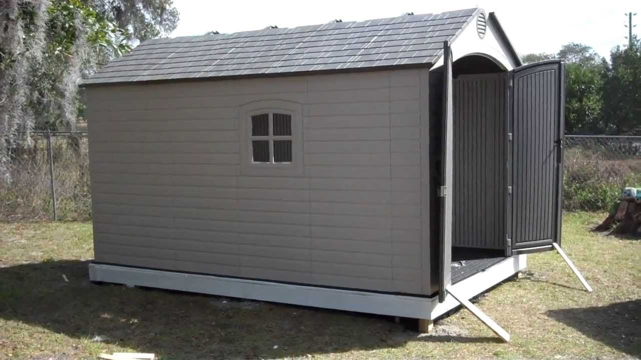 Lifetime Outdoor Storage Shed Foundation Garden Shed Building Plans Free