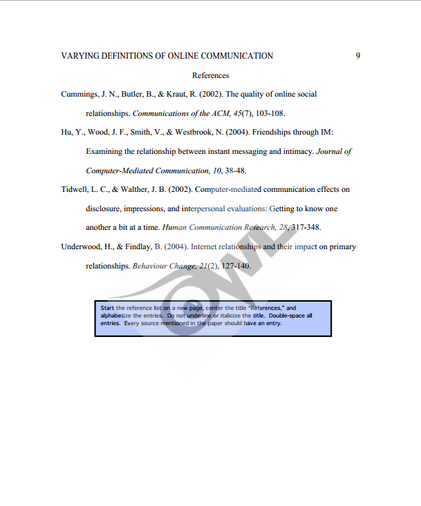 Reference page apa format owl website to buy research papers