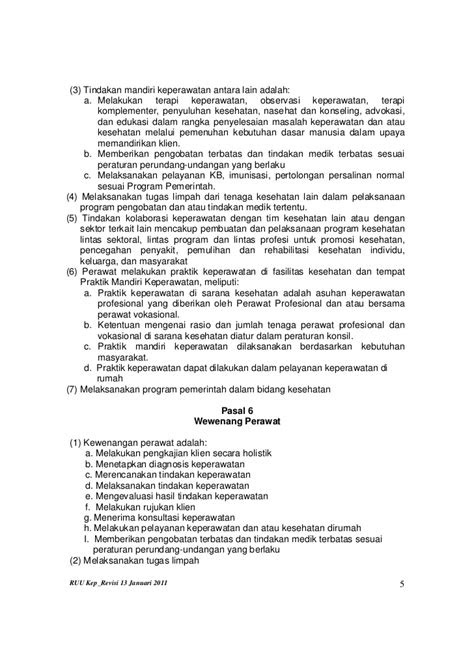 Draf RUU Keperawatan Revisi 13 Januari 2011_