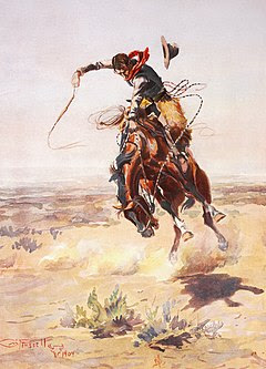 Charles Marion Russell - A bad hoss (1904)