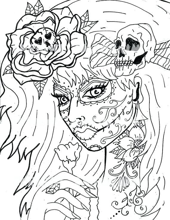 - Day Of The Dead Coloring Pages For Adults - Coloring Pages Kids 2019