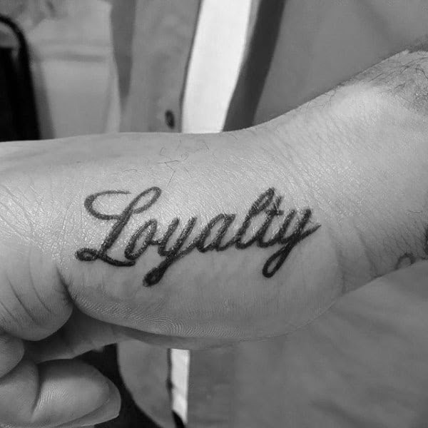 50 Loyalty Tattoos For Men Faithful Ink Design Ideas