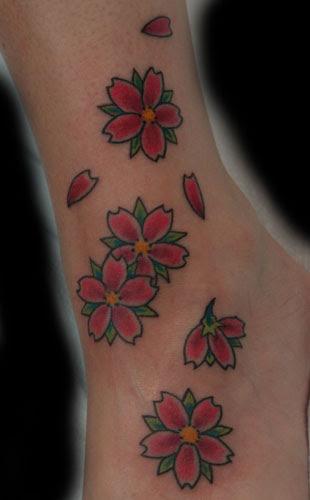Flower tattoos Tattoos cherry blossom
