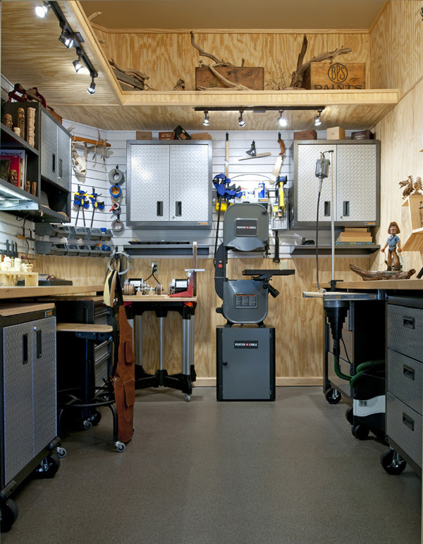 small shed workshop layout
